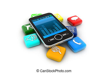 Smart Phone with Apps;