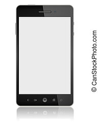 Smart Phone With Blank Screen Isolated