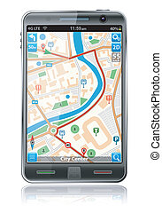 Smart Phone with GPS Navigation App - Smart Phones with GPS...