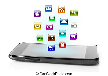 Smart phone with icons