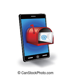 smart phone with mail box