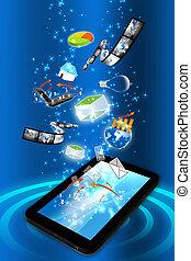 Smart phone with many idea