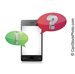 Smart-phone with question and answer speech