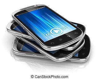 smart phones 3d illustration
