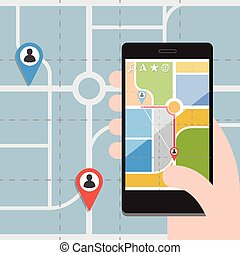 Smart Phones with GPS Navigation