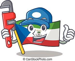 Smart Plumber flag equatorial guinea Scroll on cartoon ...