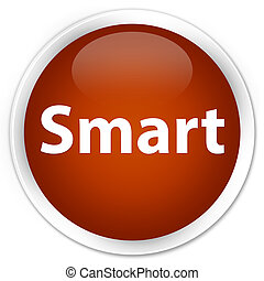 Smart premium brown round button