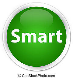 Smart premium green round button
