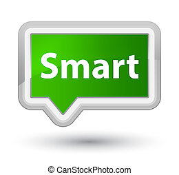 Smart prime green banner button