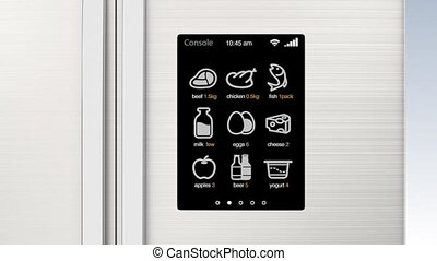 Smart refrigerator with LCD screen - Smart refrigerator with...