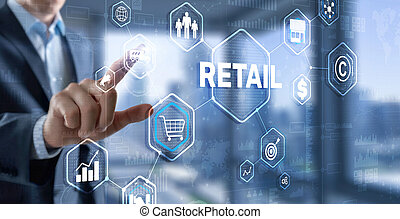 Smart retail and omni channel concept