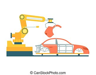 Smart robotic automobile production line