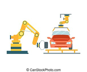 Smart robotic automotive assembly line