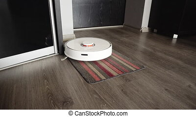 Smart robotic vacuum cleaner to gently clean the mat in the...