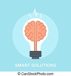 Vector illustration of smart solutions flat design concept.