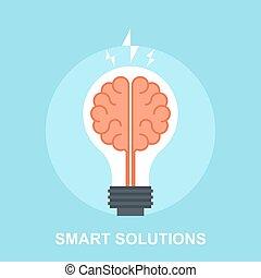 Smart Solutions - Vector illustration of smart solutions...