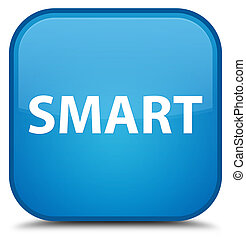 Smart special cyan blue square button