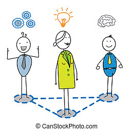 smart team with women leader vector image