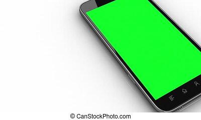 smart, telefoon, het leggen, tracking, punten, en, z-depth, lagen