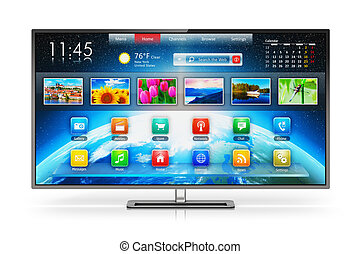 Smart TV - Creative abstract digital multimedia...