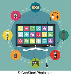 Smart TV flat design