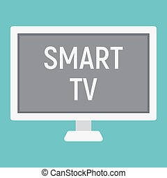 Smart TV flat icon, household and appliance