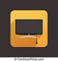 Smart TV flat icon