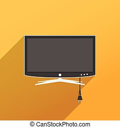 Smart TV flat style illustration