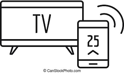 Smart tv icon, outline style