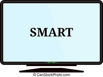 Smart tv icon. Vector concept illustration for design.