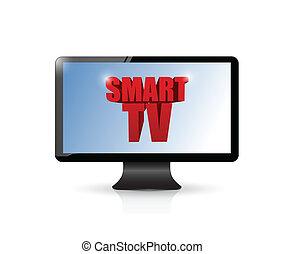 smart tv illustration design over