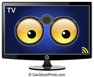 smart, tv, is, schouwend, u