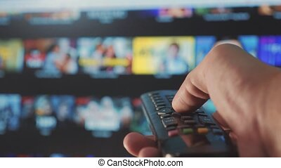 smart tv. online video lifestyle streaming service. with...