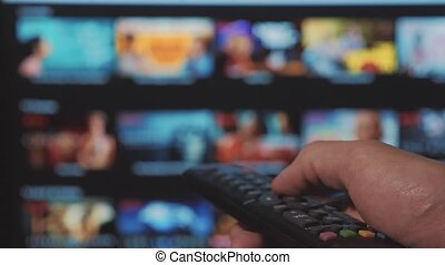 smart tv. online video streaming service. with apps and...