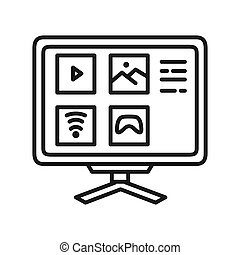smart tv vector illustration design