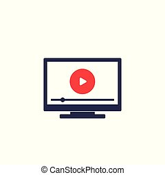Smart tv, video streaming service icon