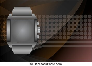 smart watch and digital technology background, vector illustrati