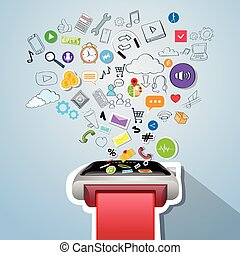Smart Watch Application Technology Electronic Device Apps Icons