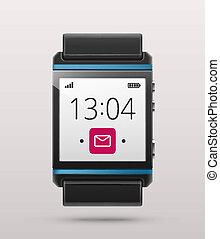 Smart watch - Isolated smart watch, eps 10