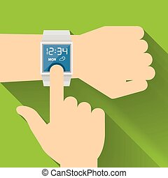 Smart Watch, Flat design