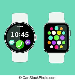 Smart watch flat design
