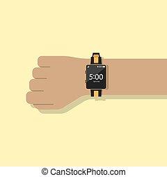 Smart watch. Flat style design