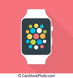 Smart Watch Flat Stylized