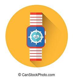 Smart Watch Heart Pulse Monitor Icon