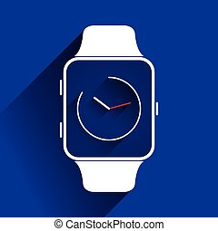 Smart watch icons, flat concept