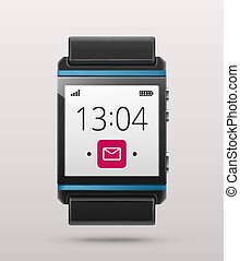 Smart watch - Isolated smart watch, eps 10