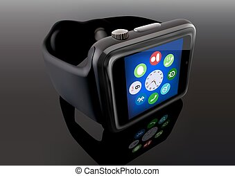 Smart Watch - photo realistic illustration, Vector