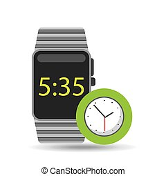 smart watch technology with clock analog