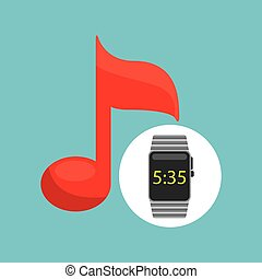 smart watch technology with music note