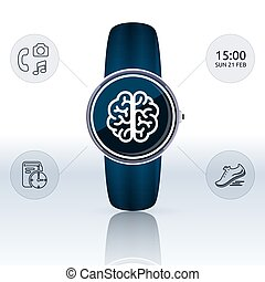 Smart watch vector illustration